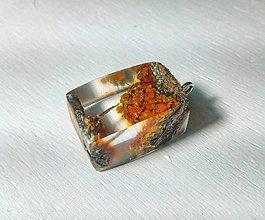 Náhrdelníky - Lišajníkový šperk - 8840530_