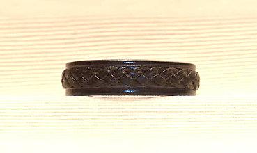Náramky - Náramok kožený CELTIC Black - 8844470_
