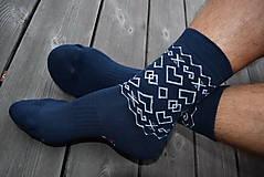 Obuv - Trekingové ponožky Folkies #praveslovenske - 8840341_