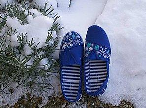 """Obuv - ZĽAVA 35%! Vianočné plátenky """"Let it snow"""" - 8845878_"""