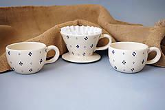 Nádoby - Sada Luhačovský překapávač na kávu + 2 hrnky - 8846048_