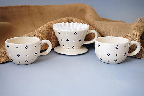 Sada Luhačovský překapávač na kávu + 2 hrnky