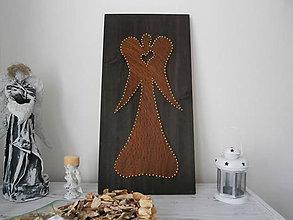 Obrazy - Veľký anjel so srdiečkom - 8841521_