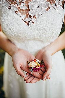 """Ozdoby do vlasov - Kvetinová pukačka """"jesenná dúha"""" - 8841782_"""