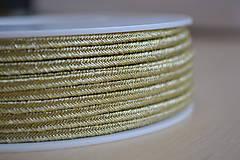 Šujtášová šnúrka metalická zlatá 3mm