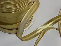 Galantéria - Zlatý šikmý prúžok - 8841501_