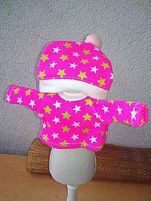 Hračky - Tričko s čiapkou pre bábiku- 25-26 cm. - 8843392_
