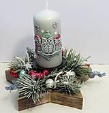- Vianočný svietnik