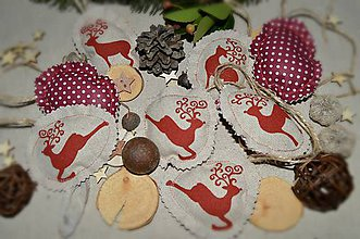 Dekorácie - Vianočné ozdoby - jelenčeky - 8851292_