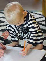 Detské oblečenie - detský overal s tabuľou na brušku - 8848811_