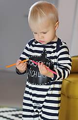 Detské oblečenie - detský overal s tabuľou na brušku - 8848812_
