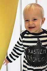 Detské oblečenie - detský overal s tabuľou na brušku - 8848813_