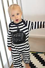 Detské oblečenie - detský overal s tabuľou na brušku - 8848814_