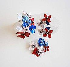 Sady šperkov - taká-slovenská, modra, biela , červená - 8848083_
