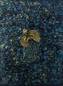 Obrazy - Modro-zlatý anjel - 8848416_