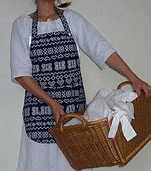Iné oblečenie - Zásterka Modré Čičmany - 8849826_