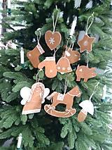 """Dekorácie - Vianočné ozdoby """"medovníčky"""" - 8846750_"""