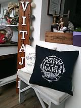 """Úžitkový textil - Obliečka s vankúšom """"café de Paris"""" - 8846808_"""