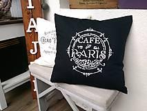 """Úžitkový textil - Obliečka s vankúšom """"café de Paris"""" - 8846809_"""