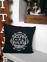 """Úžitkový textil - Obliečka s vankúšom """"café de Paris"""" - 8846812_"""