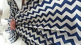 Úžitkový textil - Závesy modrý cik cak - 8848450_