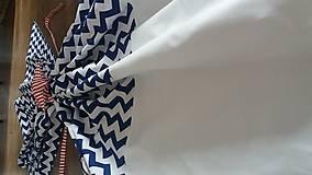 Úžitkový textil - Závesy modrý cik cak - 8848451_