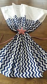 Úžitkový textil - Závesy modrý cik cak - 8848452_