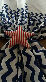 Úžitkový textil - Závesy modrý cik cak - 8848453_