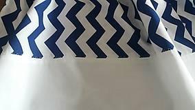 Úžitkový textil - Závesy modrý cik cak - 8848454_