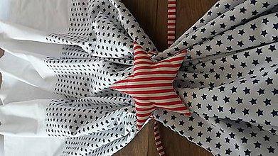 Úžitkový textil - Závesy modré hviezdy - 8848505_