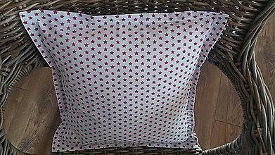 Úžitkový textil - Vankúš červená hviezda - 8848621_
