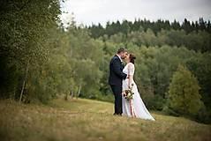 Šaty - nežné svadobné šaty /biele  - 8847430_