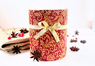 Drogéria - Darčekové balenie - tubus slávnostný (Darčekové balenie - tubus Červený) - 8848554_