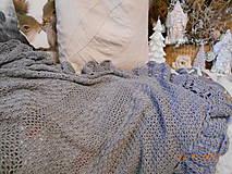 """Úžitkový textil - Háčkovaná deka """"GREY"""" z bambusu - 8850180_"""