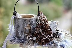 Dekorácie - Vianočný svietnik - 8848763_