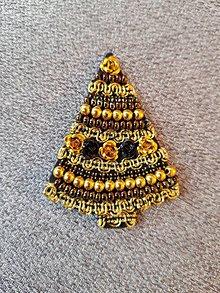 Odznaky/Brošne - Zlaté Vianoce - 8846950_