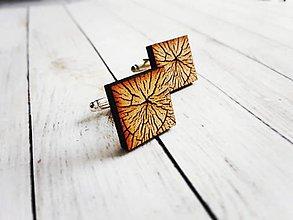 Šperky - Manžetové gombíky drevené - 8848045_