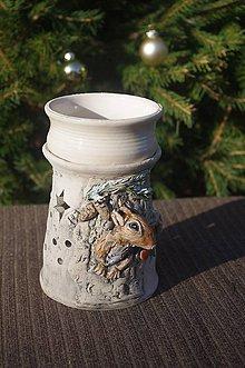 Svietidlá a sviečky - aromalampa-veverička - 8846570_