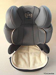 Textil - Vložka do autosedačky Cybex PALLAS M-FIX 9-36 kg, 1-12 rokov 100% Merino - 8846900_