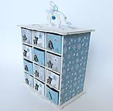 Dekorácie - Adventný kalendár modrý - 8851315_