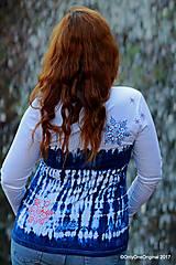 Tričká - Dámske tričko batikované, maľované SNIEŽIK - 8847118_