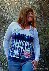 Tričká - Dámske tričko batikované, maľované SNIEŽIK - 8847143_