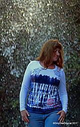 Tričká - Dámske tričko batikované, maľované SNIEŽIK - 8847150_
