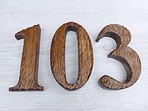 Dekorácie - Drevené domové čísla, rustikálne, dub - 8846561_