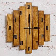 """Hodiny - Drevené nástenné hodiny """"eSky"""" Vintage 82 - 8846482_"""