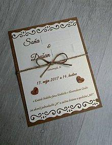 Papiernictvo - Svadobne oznamenie TÚŽBA - 8847868_