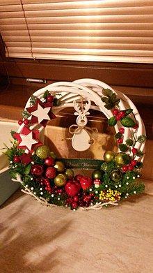 Dekorácie - Vianočný veniec - Sobík - 8850853_