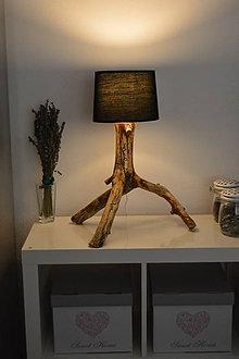 Svietidlá a sviečky - PINE - Lampa z borovicového dreva - PREDANÉ - 8847358_