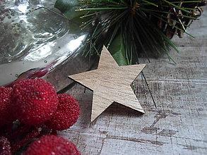 Papier - drevený výrez hviezda - 8848718_