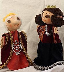 Hračky - Maňuška. Bábika Kráľ a kráľovna. - 8847218_